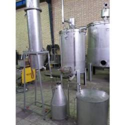 دستگاه توليد عرقيات و اسانس با روش حرارت مستقيم و ظرفيت 150 کيلو گياه