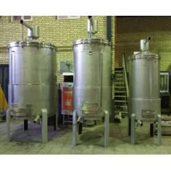 ديگ های تقطير نيمه صنعتی توليد عرقيات و اسانس با سيستم حرارتی دو جداره روغنی با ظرفيت های مختلف