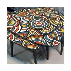 میز عسلی مثلثی 4 تیکه کد m136088