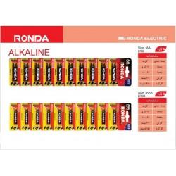 باتری LR6 و LR03 آلکالاین 10 عددی روندا
